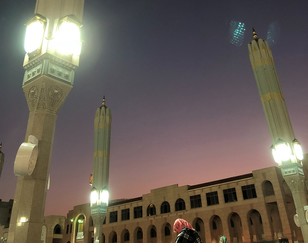 sunset in Madinah