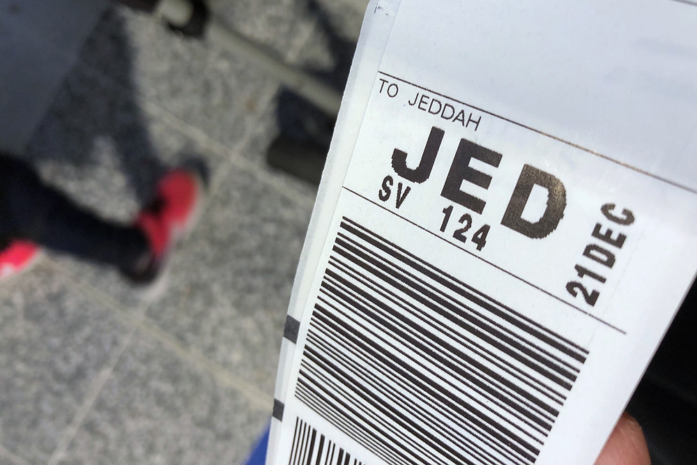 Jeddah luggage tag