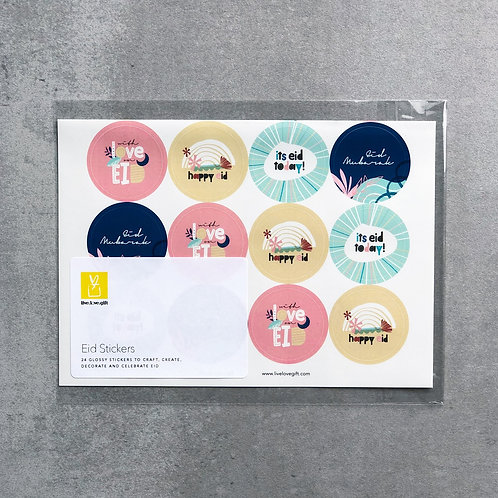 'Nature's Bloom' Eid Stickers
