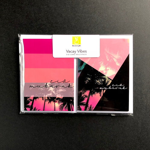'Vacay Vibes' Eid Cards Multipack