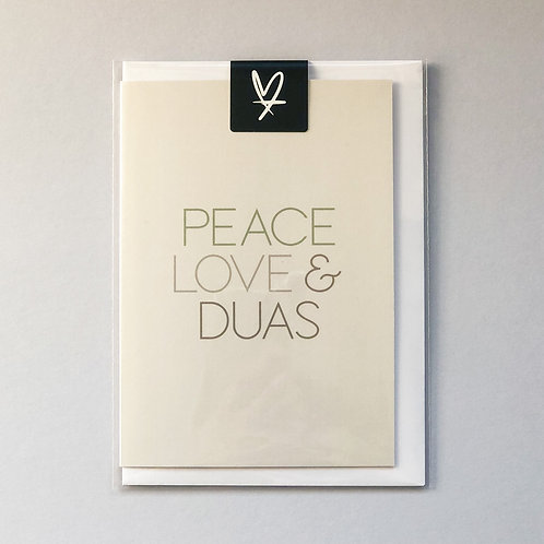Peace Love & Duas Greeting Card