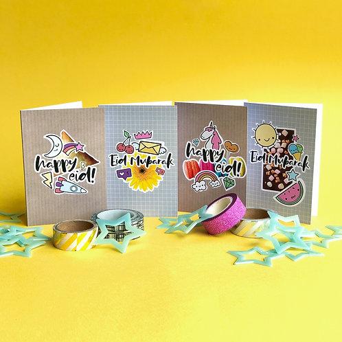'Doodle Bug' Eid Cards Multipack