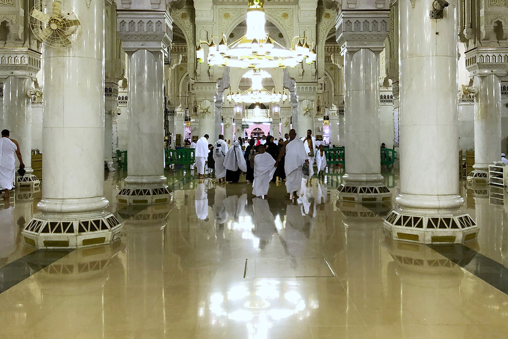 Makkah mosque walkway
