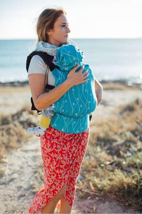 Eros Ivy Blue Wrap Conversion Baby Size Full Buckle Carrier