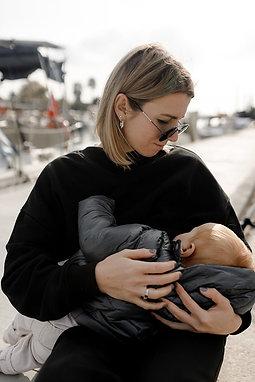 Breastfeeding Sweatshirt - Black