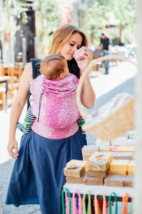 Lokum Rose Wrap Conversion Baby Size Full Buckle Carrier
