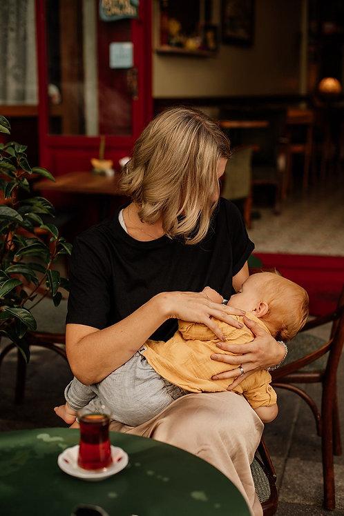 Breastfeeding T-shirt - Black