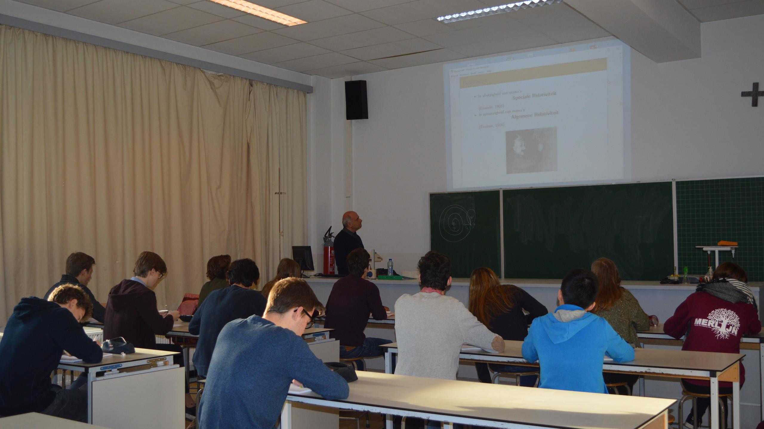 Prof voor de klas