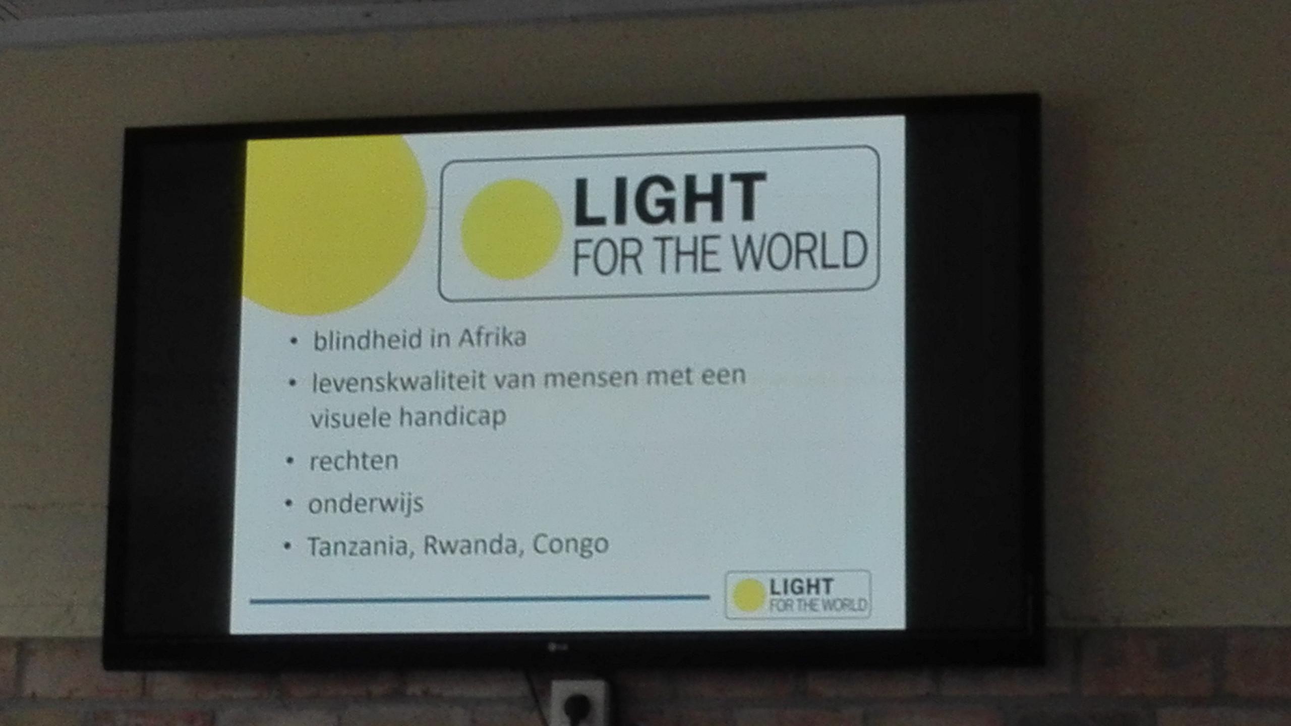 Voorstelling Licht voor de wereld