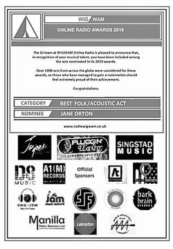 Radio Wigwam Online Awards