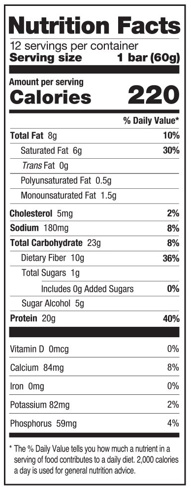 Salted Caramel Nutrition Facts