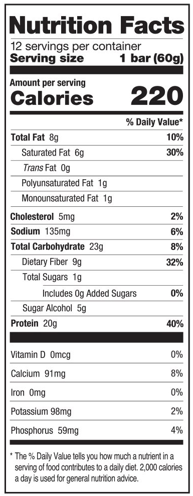 Cookies & creme nutrition facts