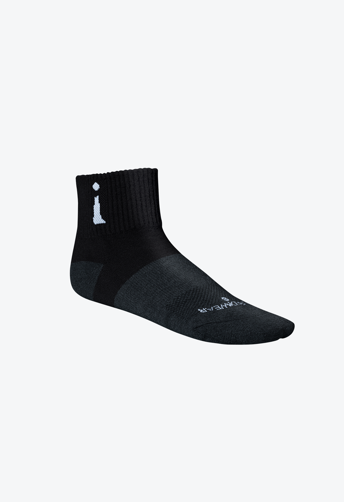 Active_Sock_Black_Quarter_left