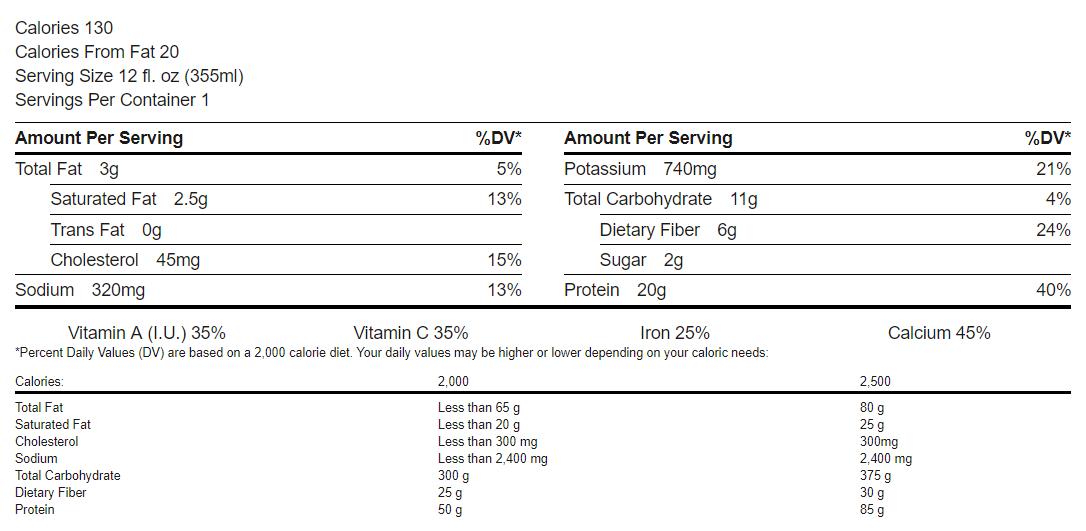 PC Vanilla Creme Blast  Protein Drink