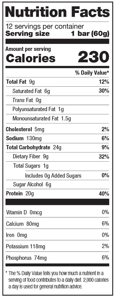 Peanut Butter Chocolate Cake Nutrition Facts