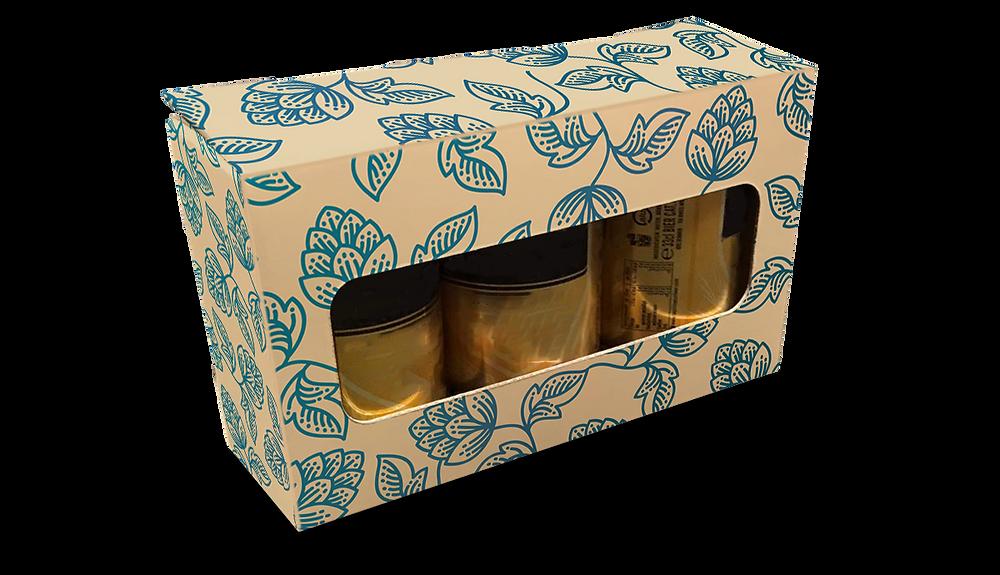 Blikbierverpakking 3-blik