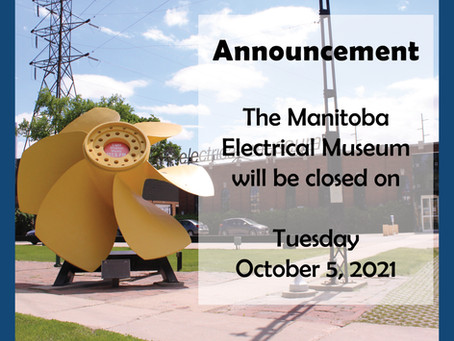 Closed Tuesday, October 5, 2021