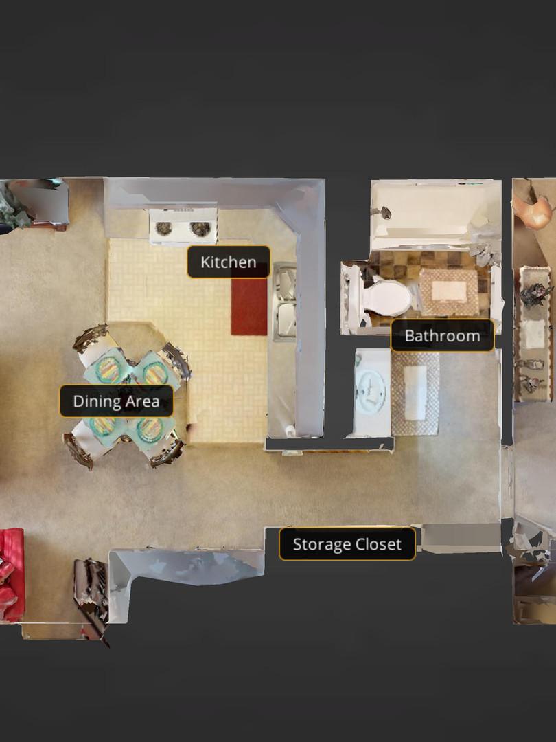 1 BR Apartment Floor Plan