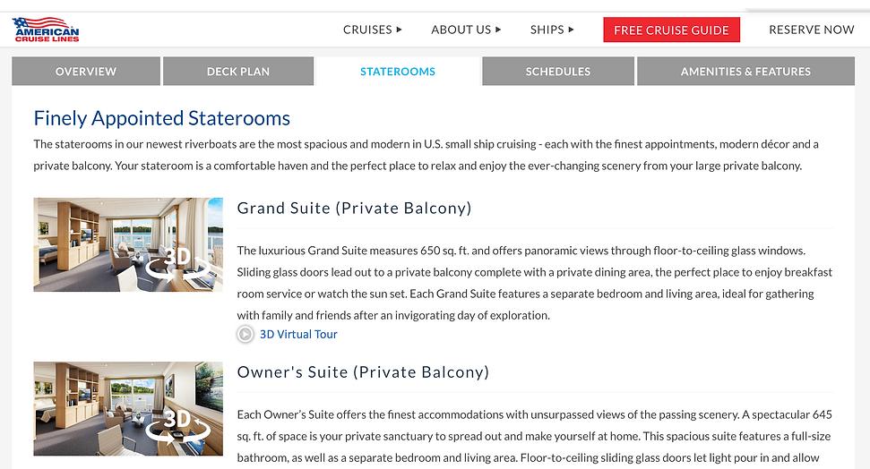 American Cruise Lines XplorNow 3D Virtua
