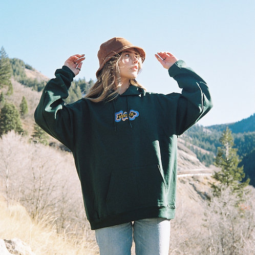 Rebirth Forest Green Hoodie (embroidered)