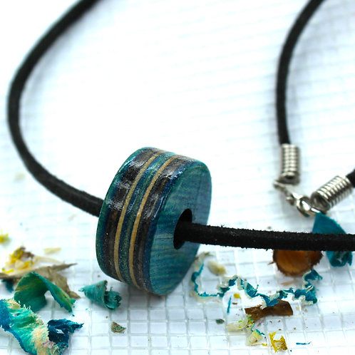 "Skateboard Necklace ""INDIGO"""