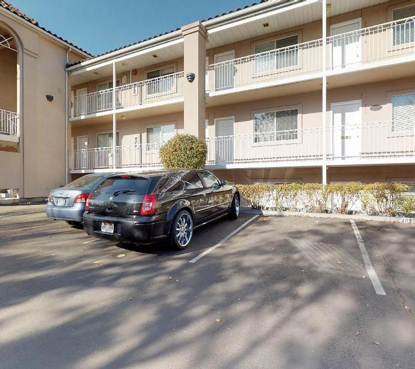 Monaco Court - Parking Lot View