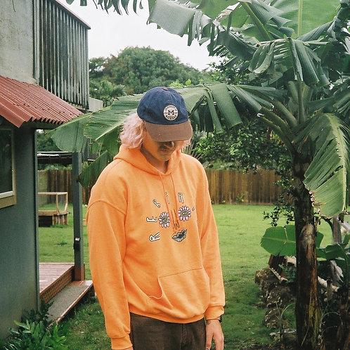 Rebirth-face hoodie (orange)