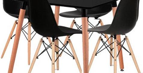 Combo Eames 4 Sillas + Mesa Cuadrada
