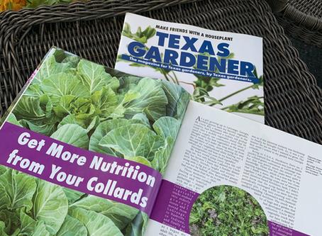 City Girl Gardener is in Texas Gardener Magazine!