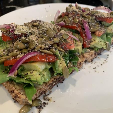 Recipes from the Garden - Loaded Avocado Toast