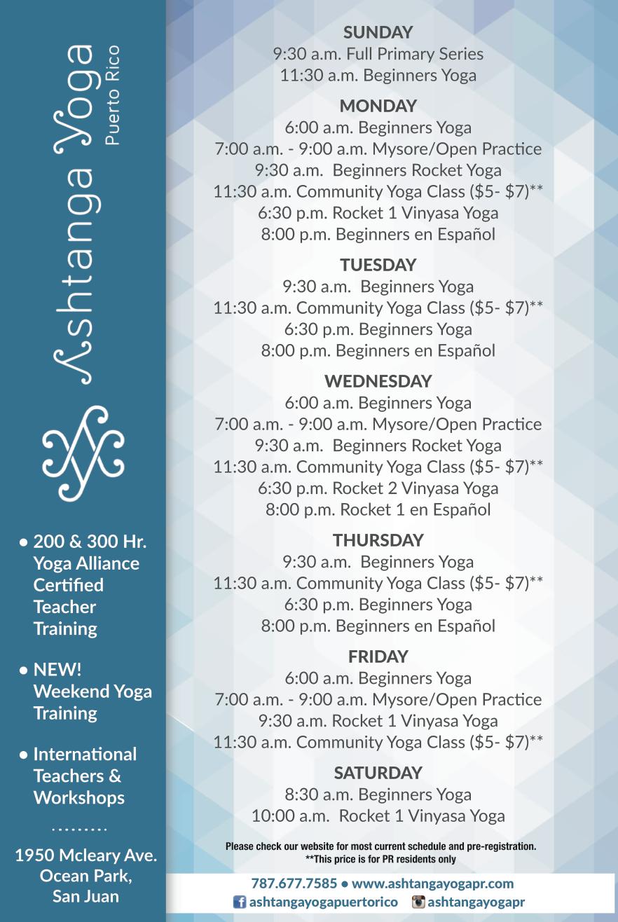 Ashtanga Yoga Programa 2016
