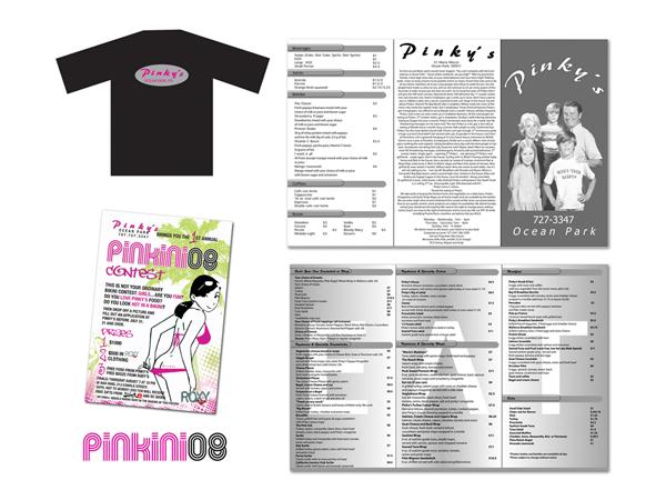 PinkyOP Branding & menu