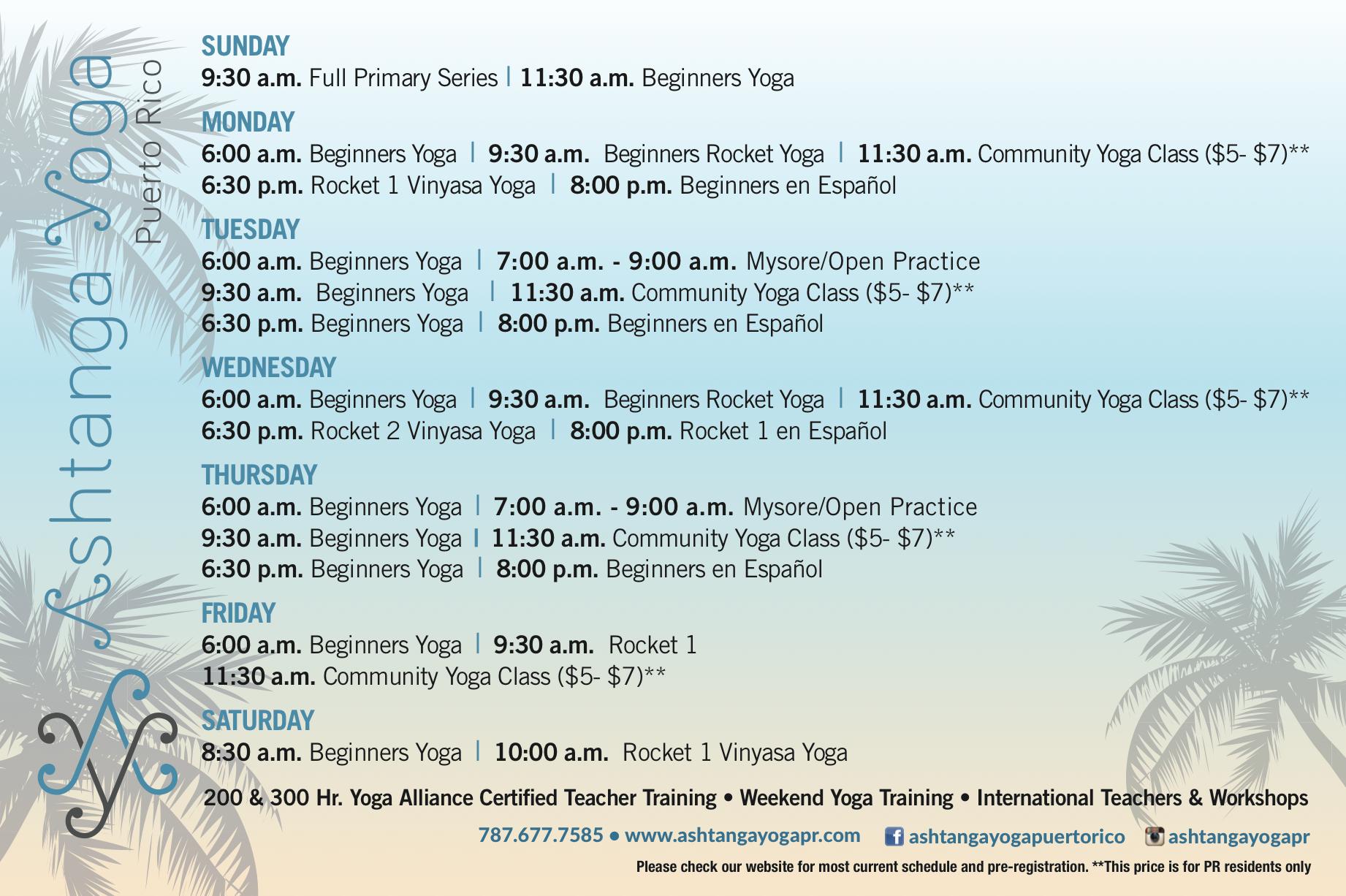 Programa Ashtanga Yoga 2017 Lado B
