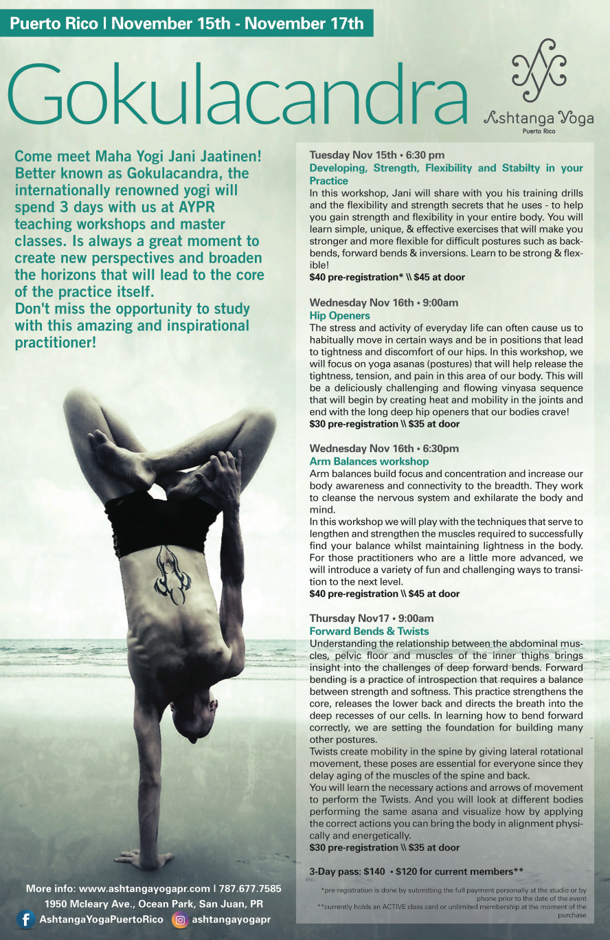 Ashtanga Yoga Workshop Poster