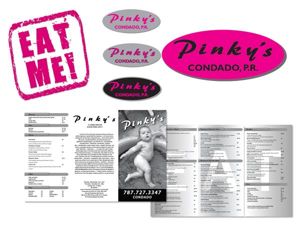 PinkyCondado Branding & Menu