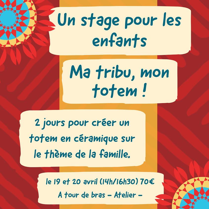 Stage enfant : Ma tribu, mon totem ! 12/13 avril: COMPLET
