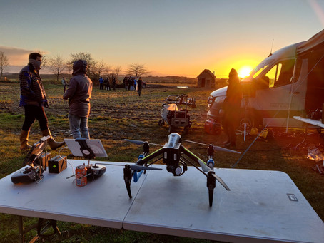 Aerial Filming of London Grammar - How Does It Feel - for Sony Music