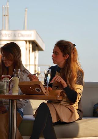 Charter yacht filming lifestlye video