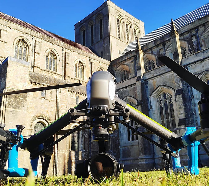 winchester cathedral drone filming