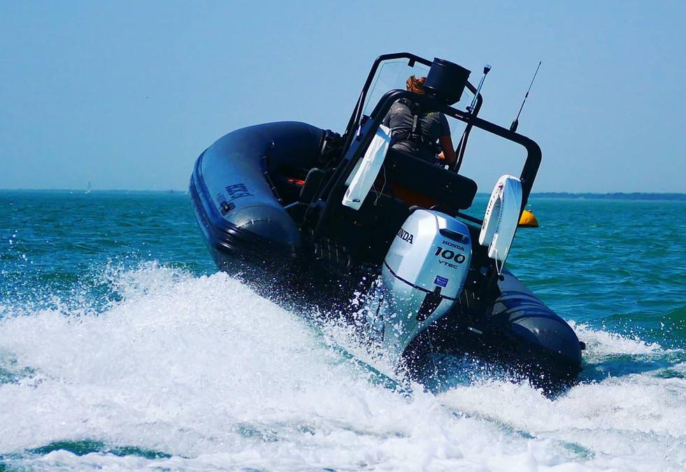 RIB photography at sea professional