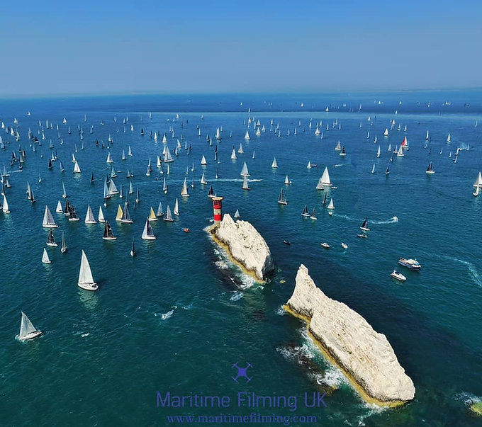 the needles solent drone filming