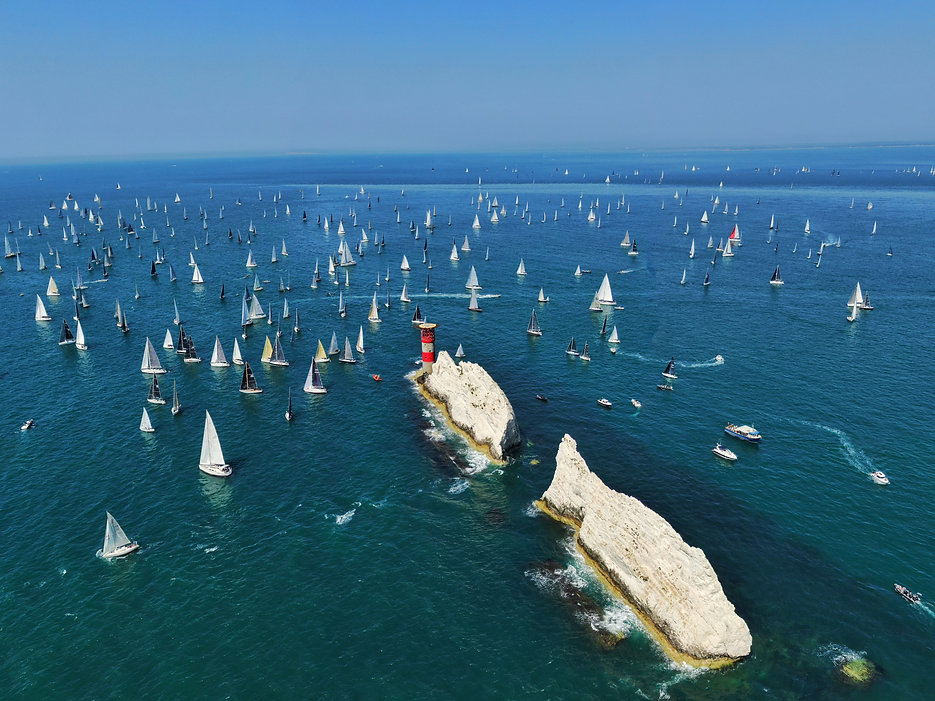 The Solent Yacht Race from Drone Filming