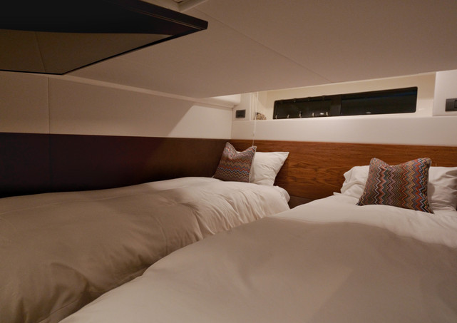 Yacht charter cabin filming