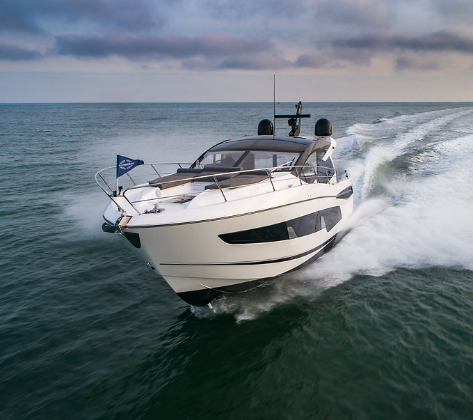 dorset drone filming at sea yacht