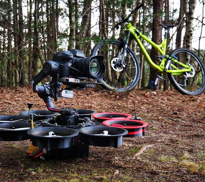 Cine FPV drone for bike filming