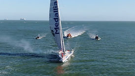 Pip Hare Vendee Globe arrives from Poole