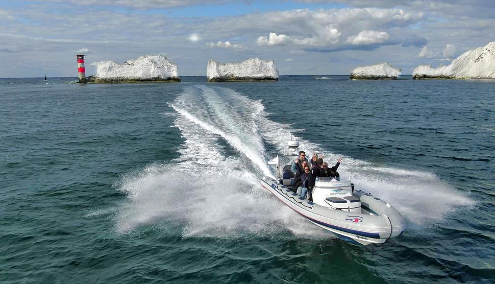 Drone filming at sea for Southampton RIB Charters