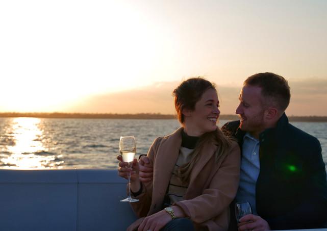 Sunset cruise filming