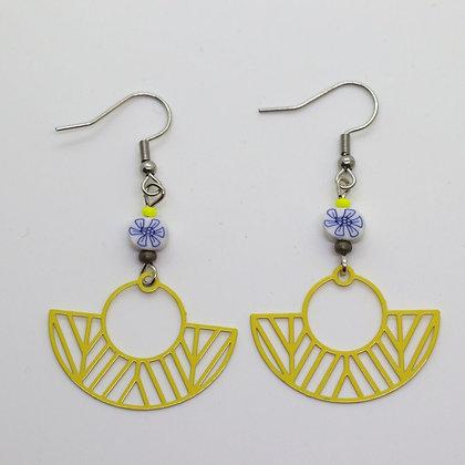 Boucles d'oreilles - estampes ajourées