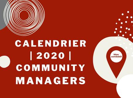 Le calendrier éditorial 2020